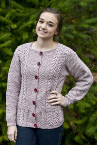 Cascade Yarns®  Free 220 Superwash®  Effects pattern W609 Joan's Cardigan