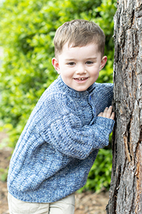 Cascade Yarns®  Free 220 Superwash®  Effects pattern W616 Textured Stripe Kid's Pullover