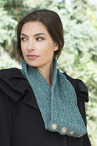 Cascade Yarns - Cascade 220® and Cascade 220® Heather Free Pattern - W639 Celtic Cable and Rib Cowl