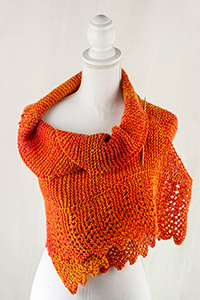 Cascade Yarns®  Free 220 Superwash® Wave  pattern W732 Solar Wave Shawl