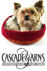 Cascade Yarns - Cascade 220® and Cascade 220® Heathers Free Pattern - W771 Bowl / Yorkie Bed
