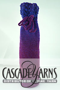 Cascade Yarns Free 220 Superwash Wave® Pattern W773 Wine Gift Bag
