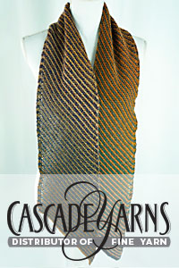 Cascade Yarns Free 220 Superwash Wave® Pattern W790 Inclination Stripes Scarf
