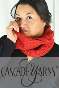 Cascade Yarns - Cascade 220® and Cascade 220® Heathers Free Pattern - W810 Chevrons Double Wrap Cowl