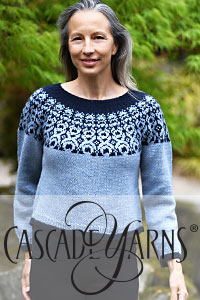 Cascade Yarns - Cascade 220® and Cascade 220® Heathers Free Pattern - W814 First Frost Pullover