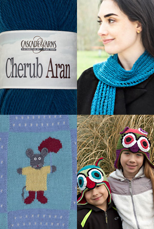 Cascade Yarns Free Patterns for Cherub Aran, Cherub Aran Multis and Cherub Aran Wave